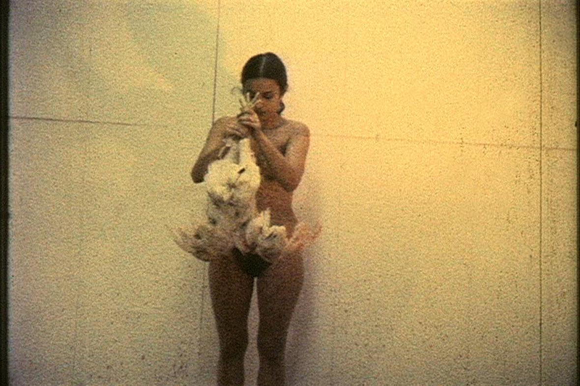 Ana Mendieta / Dílo s kuřetem (Film s kuřetem), 1972