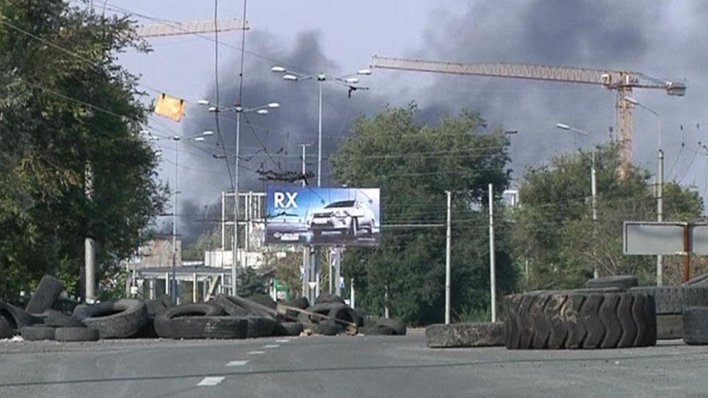 Válečné panorama Doněcku