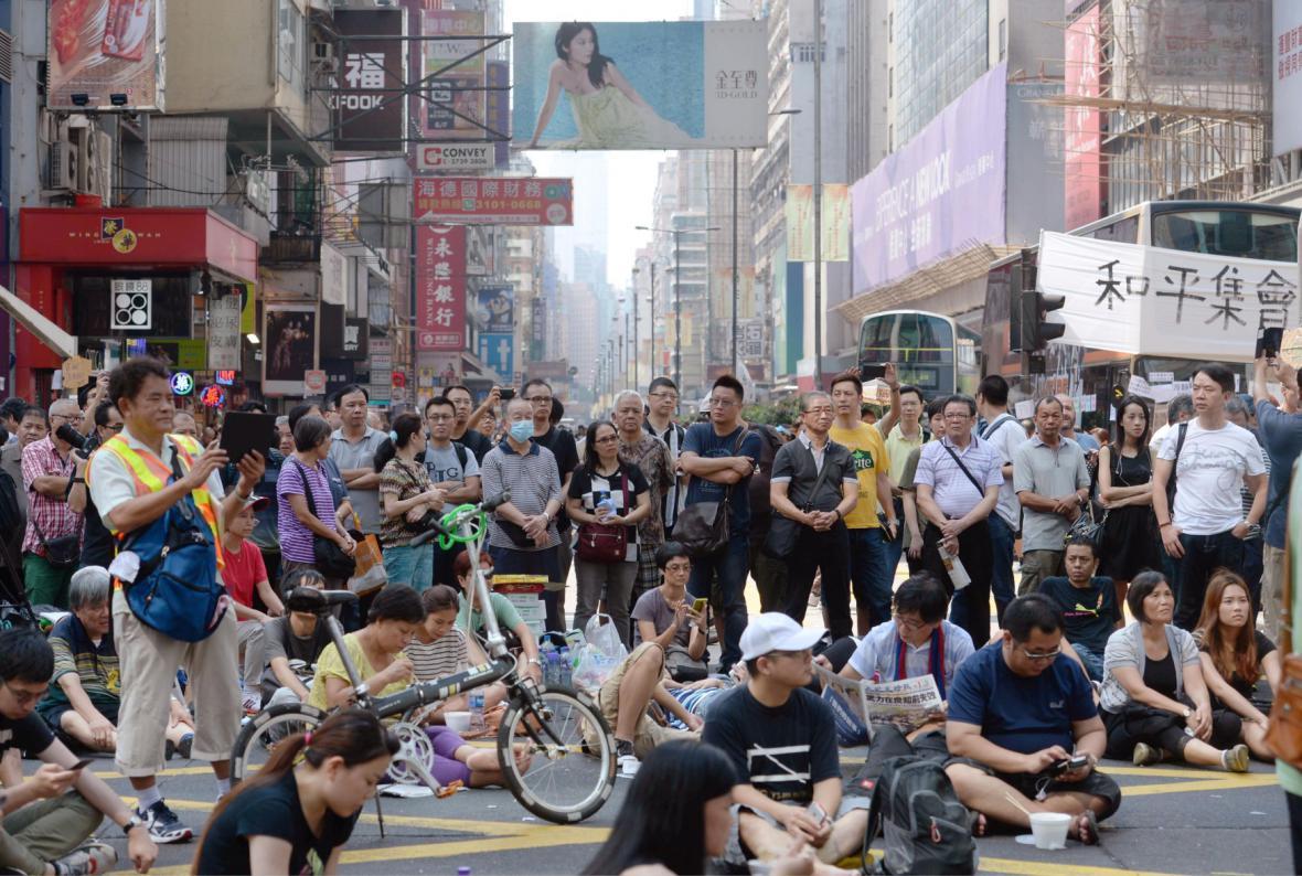 Protest v Hongkongu