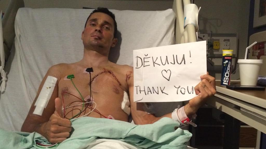 Jiří Ježek děkuje fanouškům za podporu