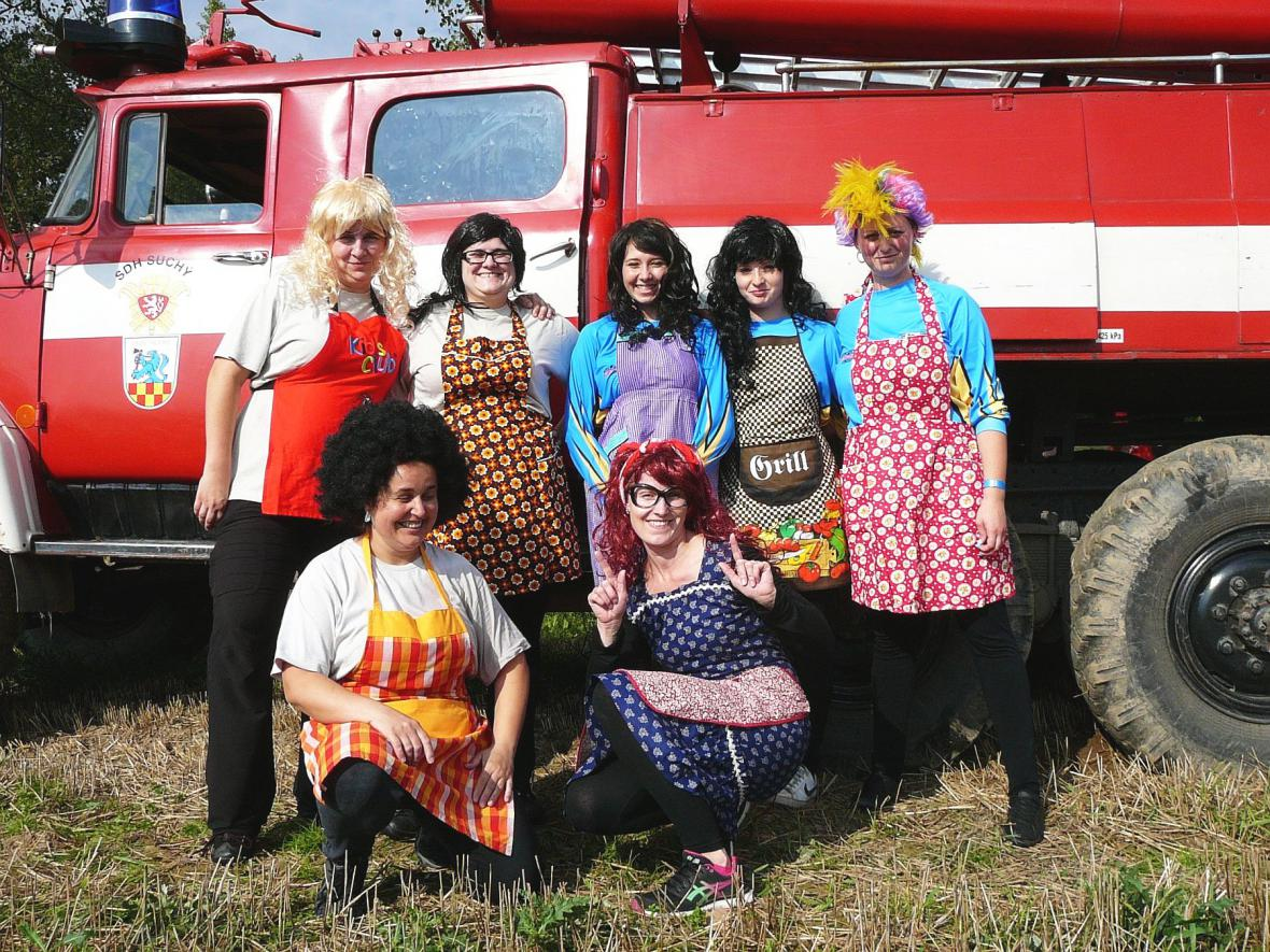 Hasičská soutěž v obci Suchý na Boskovicku