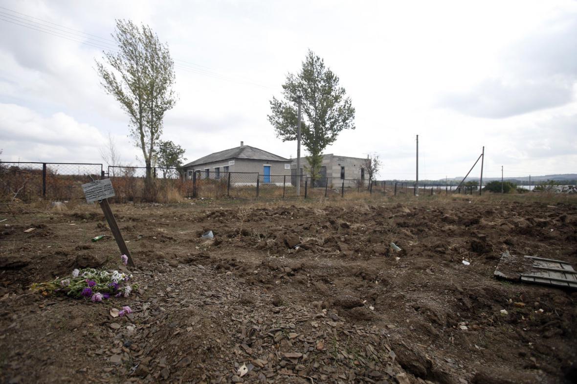Hroby na východě Ukrajiny