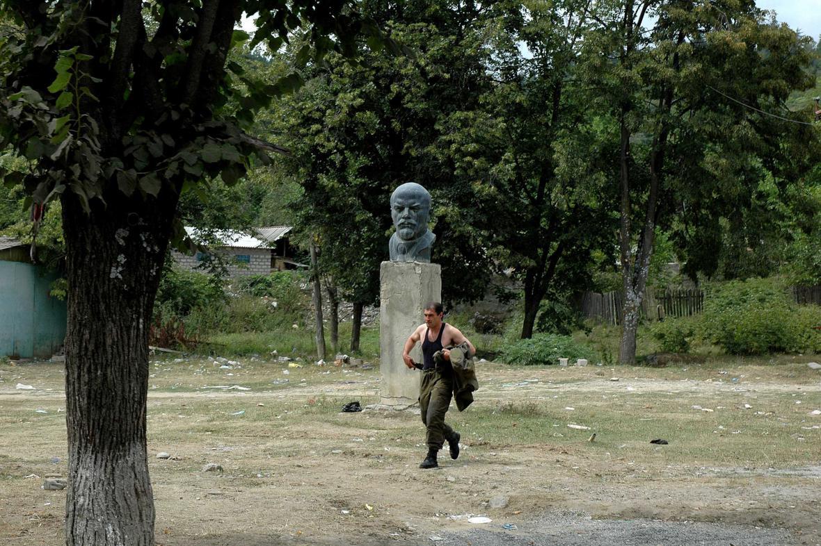 Leninova busta v Jižní Osetii