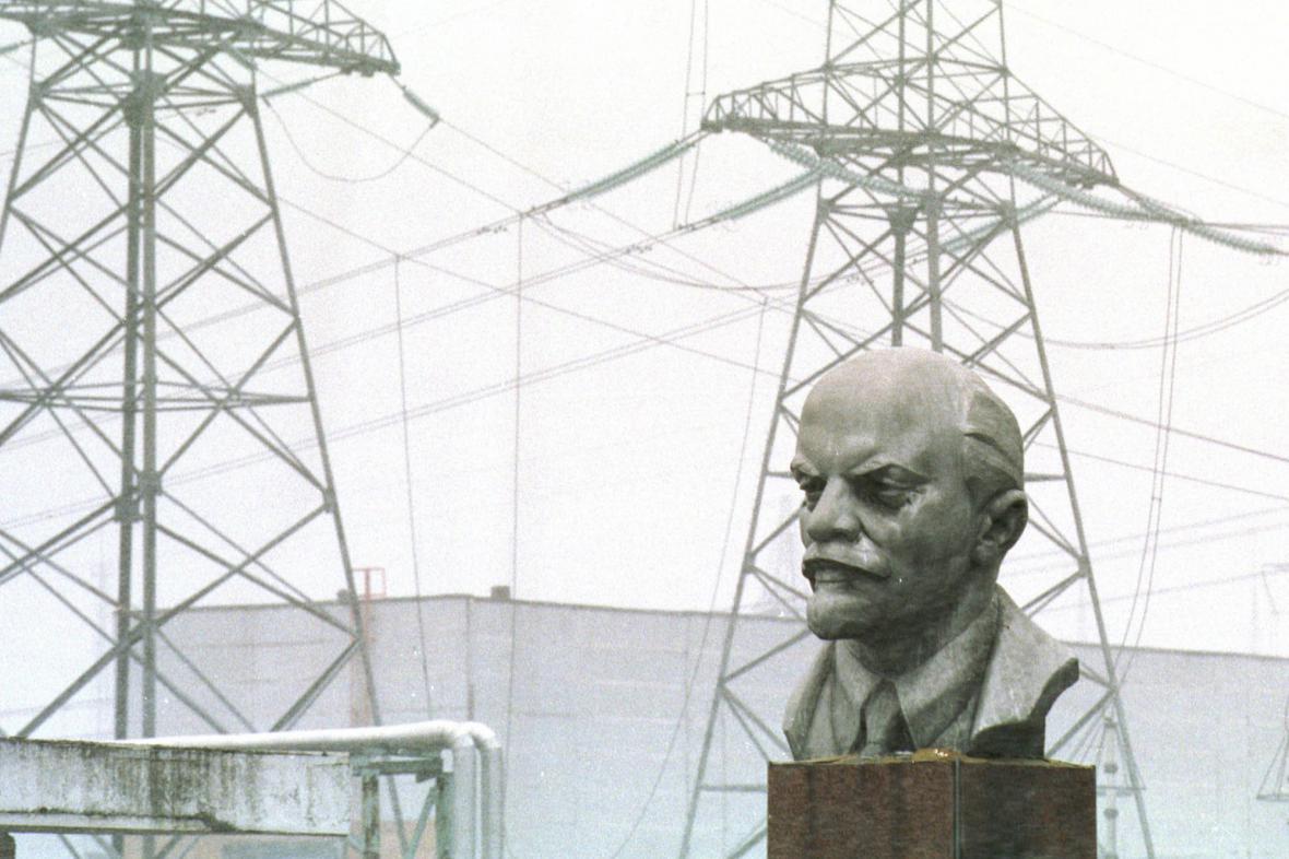 Busta V. I. Lenina u jaderné elektrárny Černobyl