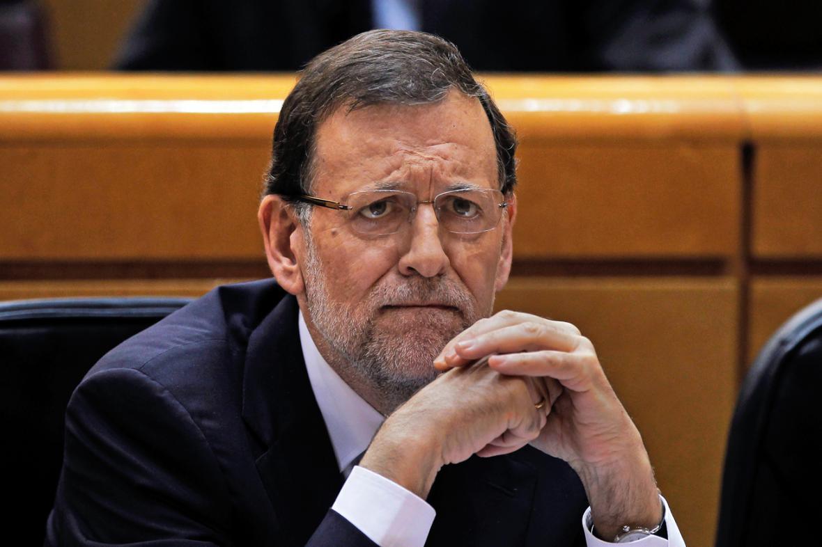 Mariano Rajoy na zasedání parlamentu
