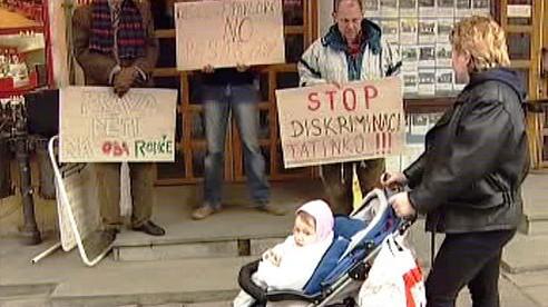 Protest za práva otců