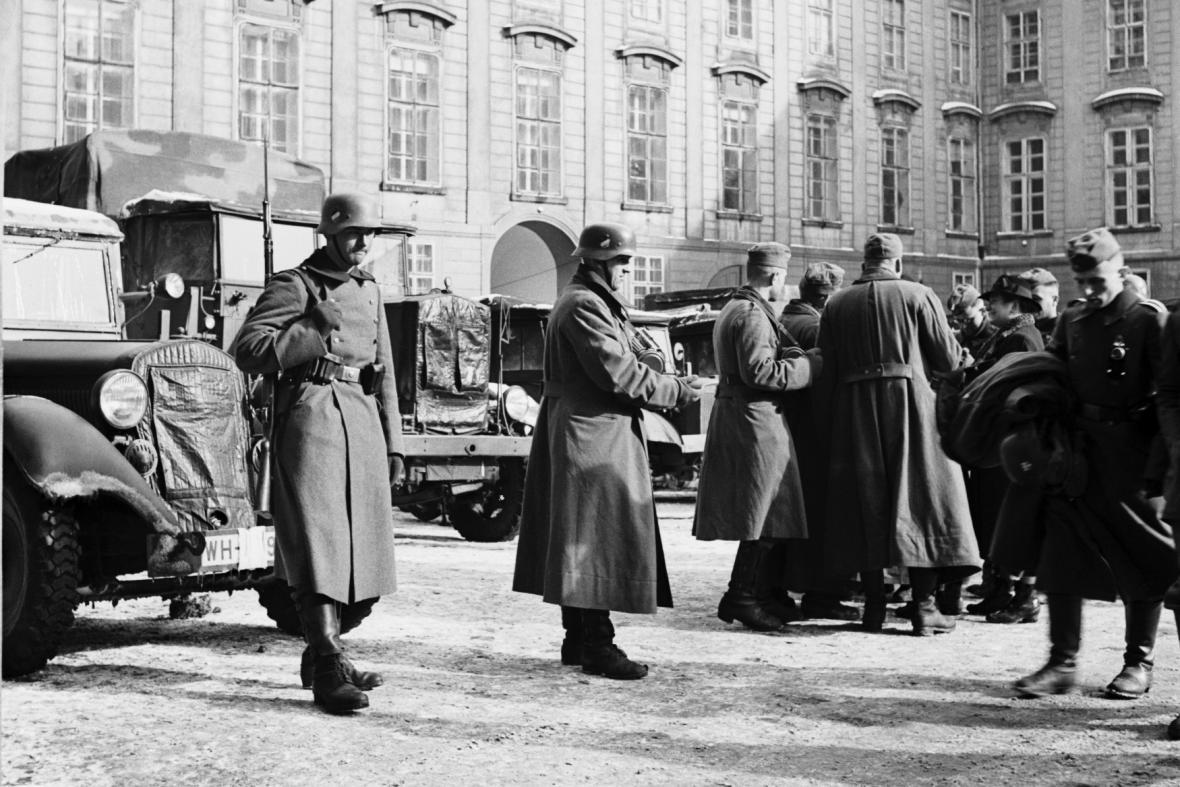 Německá okupační vojska na Pražském hradě