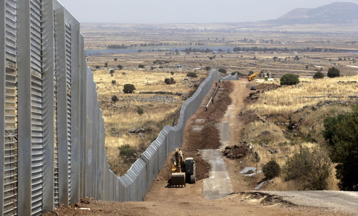 Izraelská bezpečnostní bariéra na Golanských výšinách