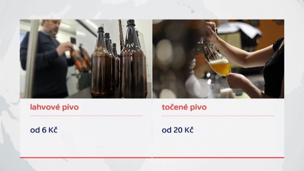 Cena lahvového a točeného piva