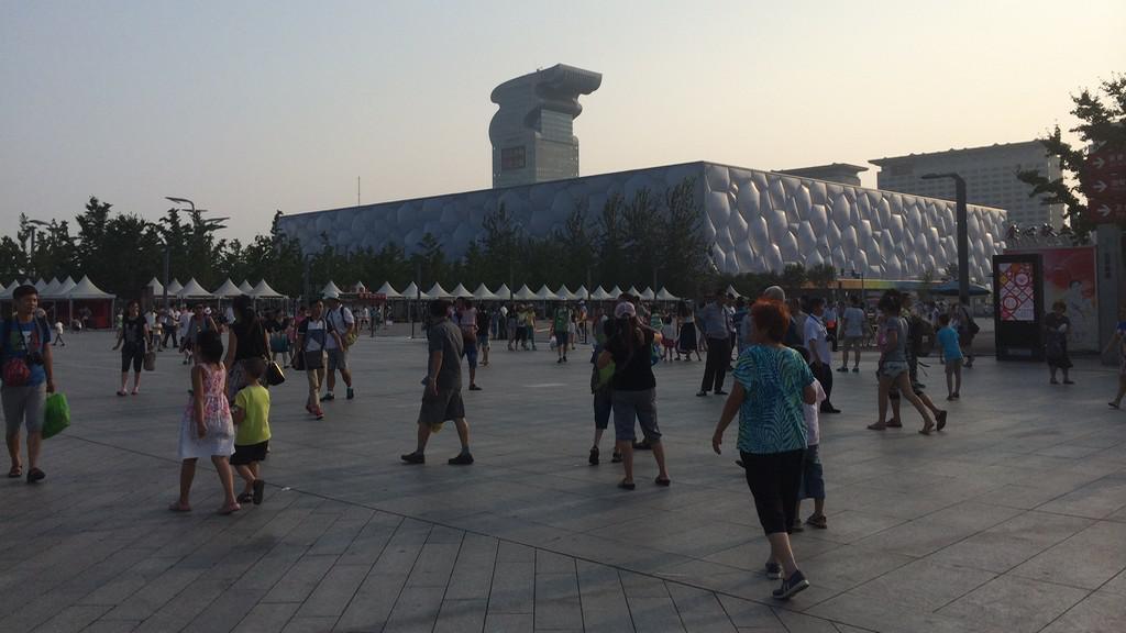 Plavecký stadion připomíná kostku