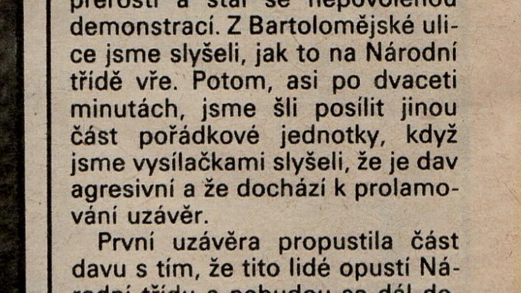 Ondráček k listopadu 1989