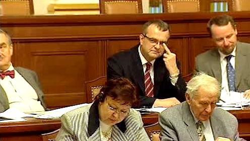 Zdvižený prostředníček Miroslava Kalouska