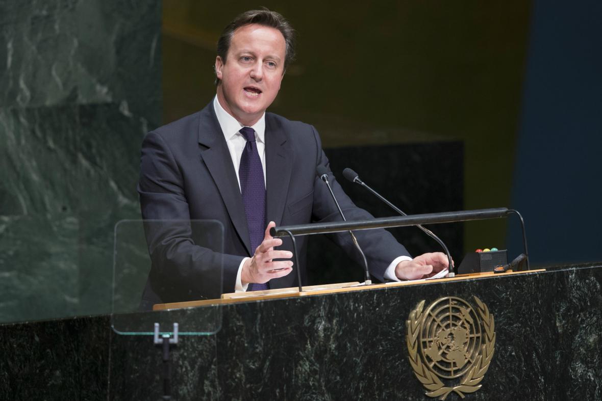 David Cameron ve Valném shromáždění OSN