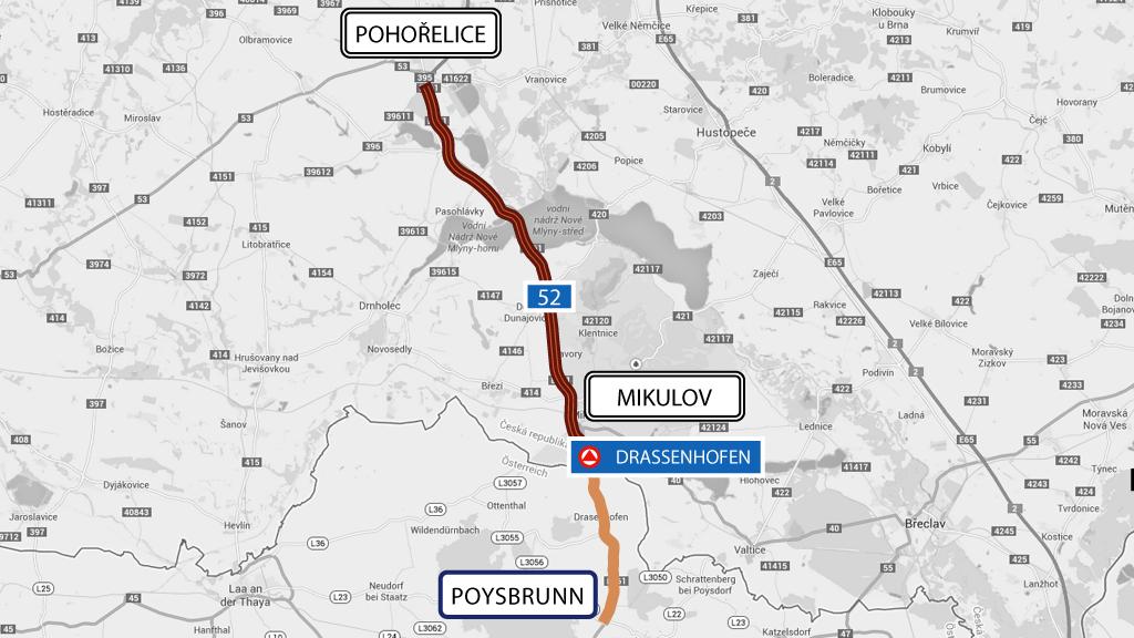 Silniční úsek Pohořelice – Mikulov –Poysbrunn