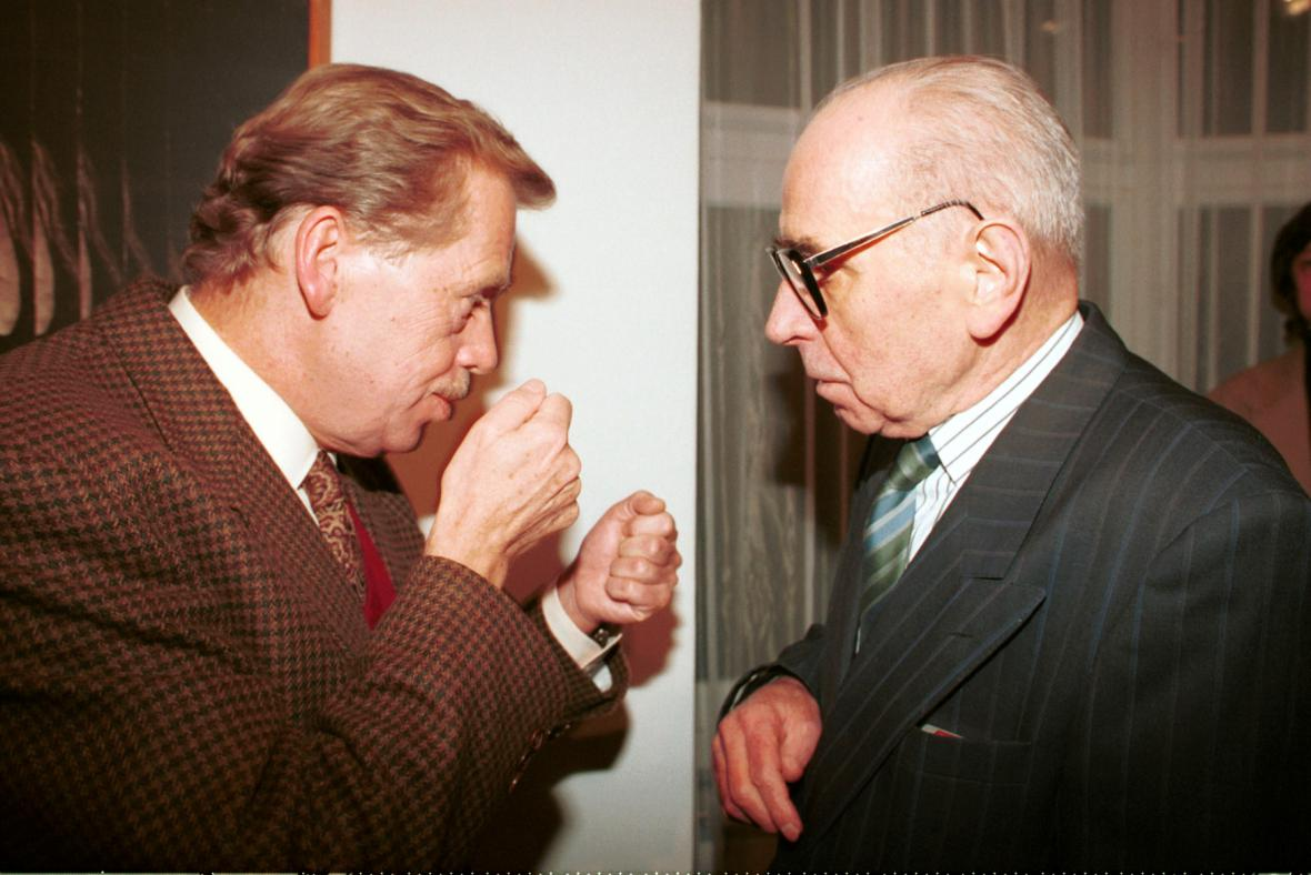 Václav Havel a Jiří Kolář, 1994