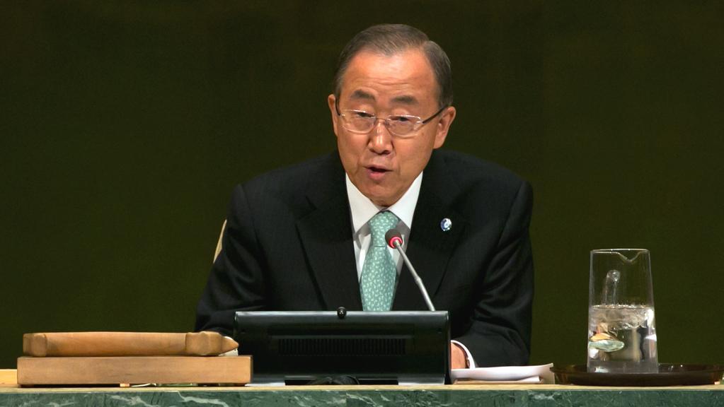 Pan Ki-Mun promlouvá na konferenci OSN v New Yorku