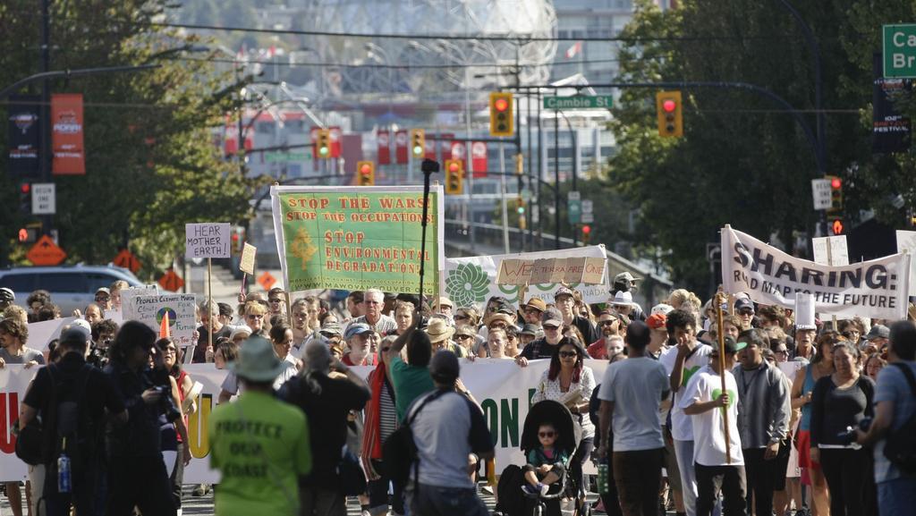 K pochodu aktivistů se připojil také Vancouver