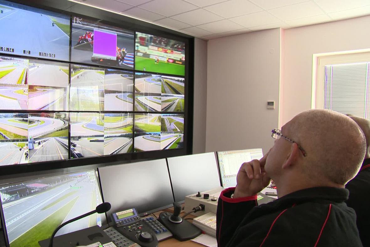 Dispečink na Automotodromu Brno