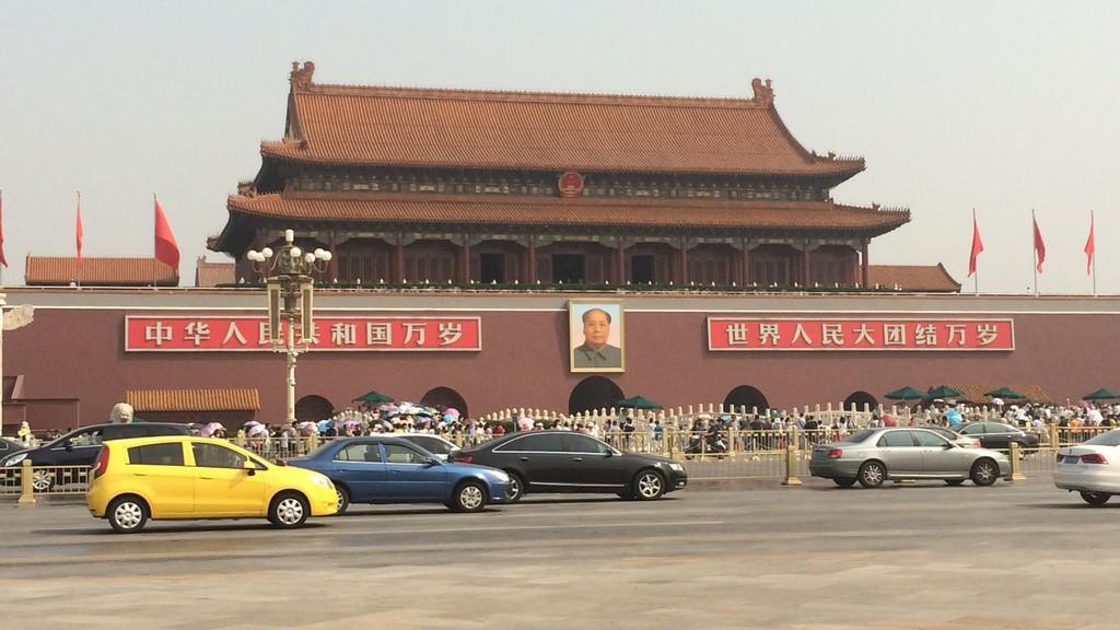Nejznámější symbol Pekingu - obraz Mao Ce- tunga