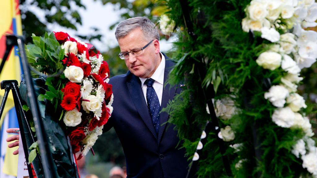 Polský prezident na vzpomínkové akci v nizozemském Drielu