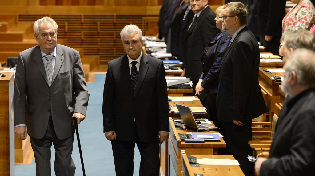Prezident Zeman při návštěvě Senátu