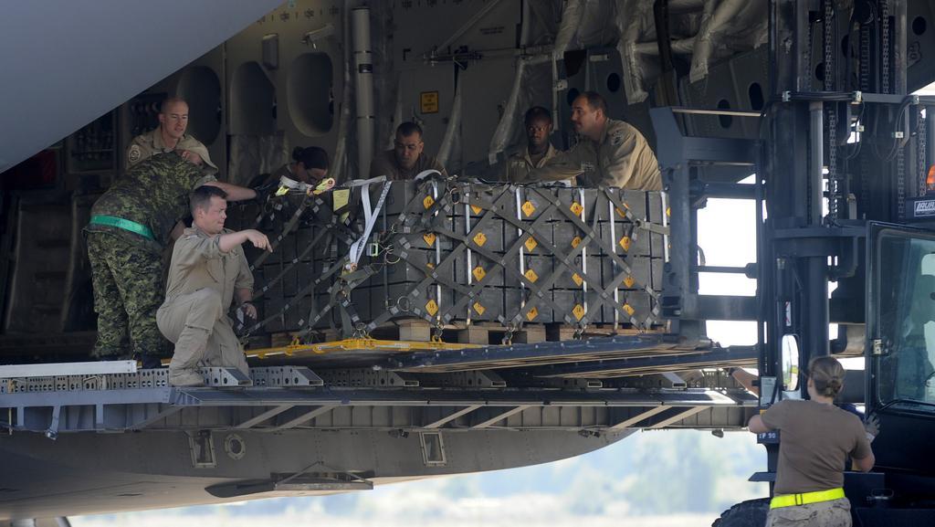 Nakládání munice směřující do Iráku