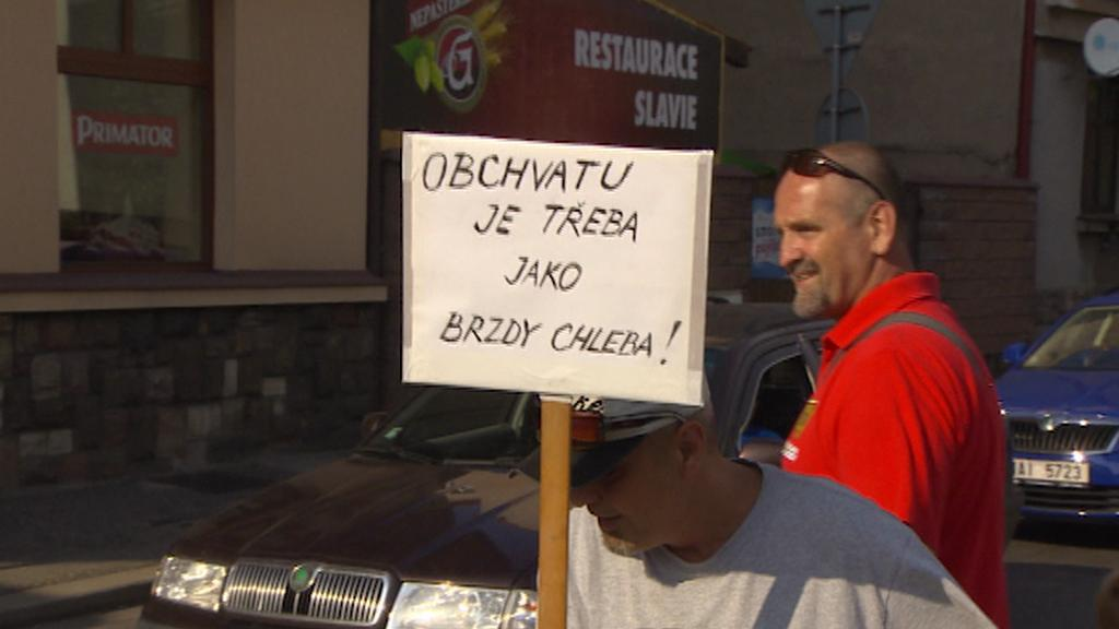 Blokáda dopravy v Náchodě