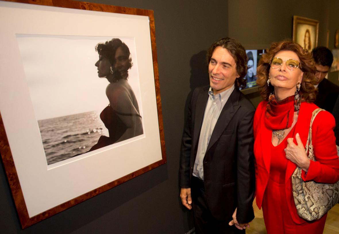 Sophia Lorenová a Carlo Ponti jr.