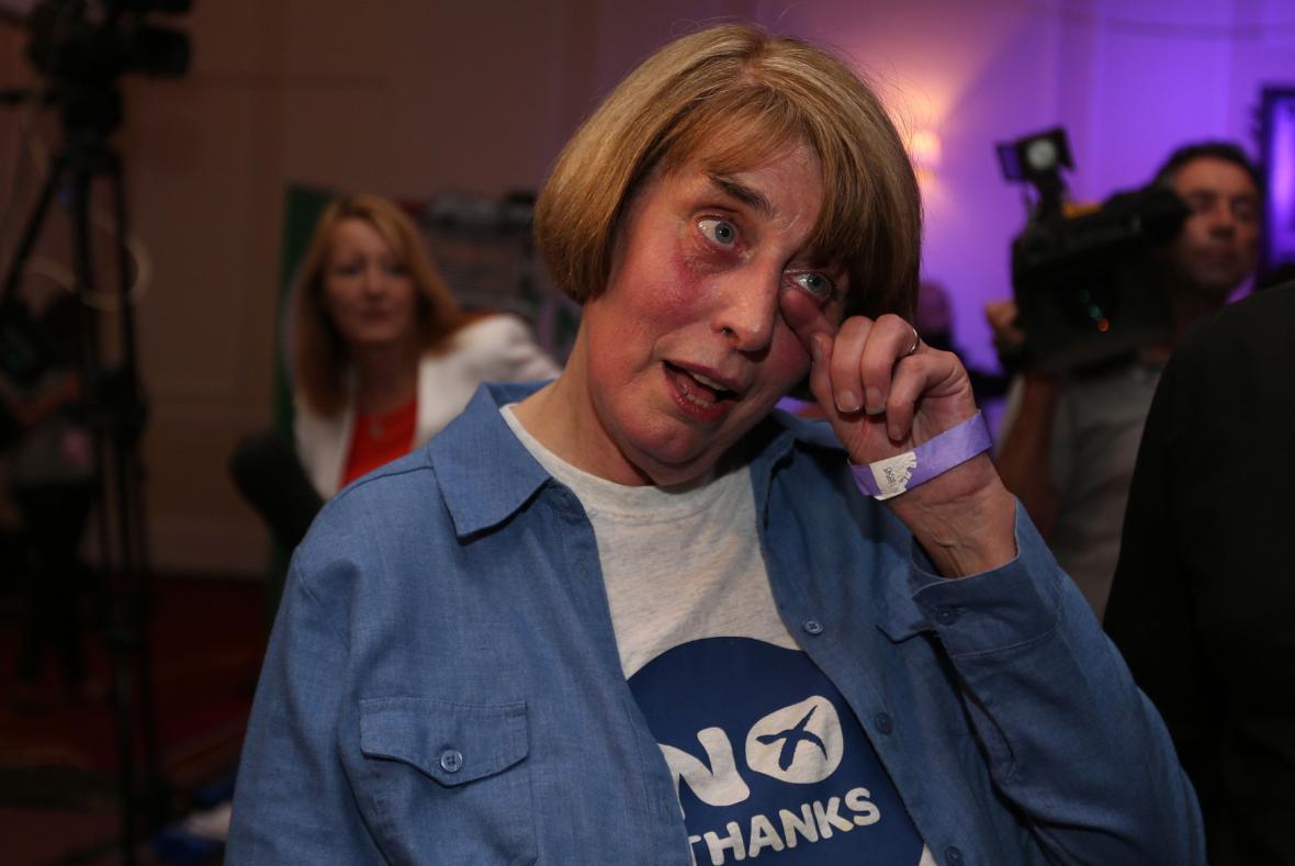 Radost zastánkyně unionistů