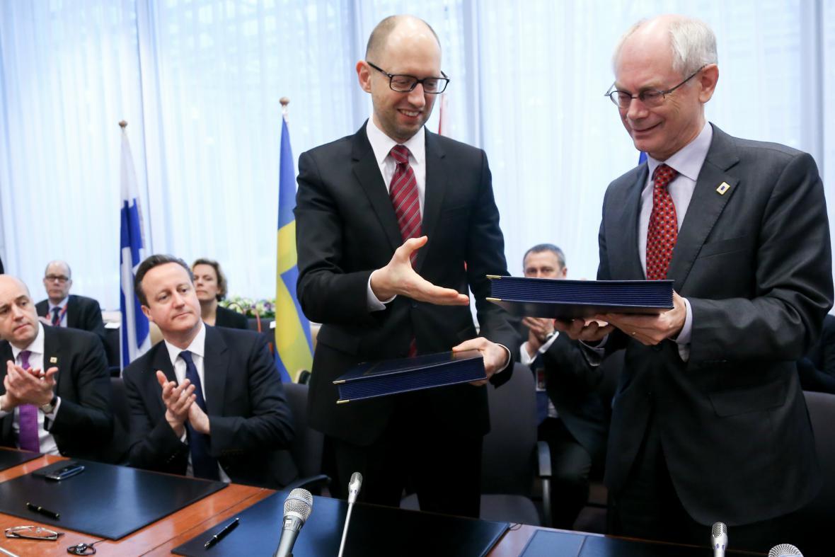 Slavnostní podpis asociační dohody