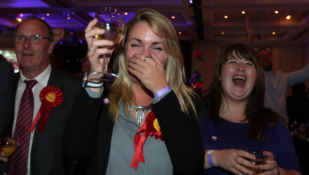 Radost tábora unionistů