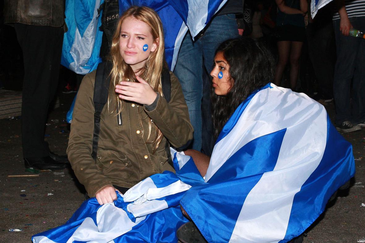 Zklamání zastánkyň samostatného Skotska