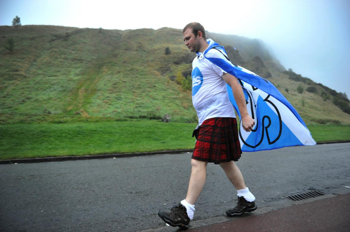 Smutek zastánce samostatného Skotska