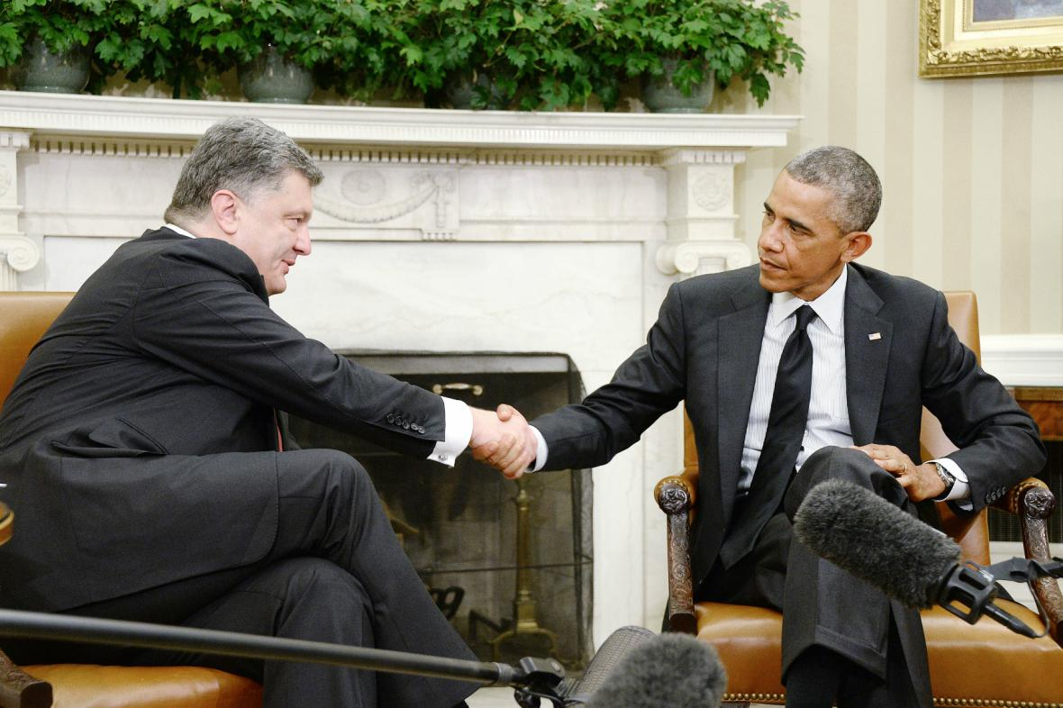 Porošenko v Bílém domě