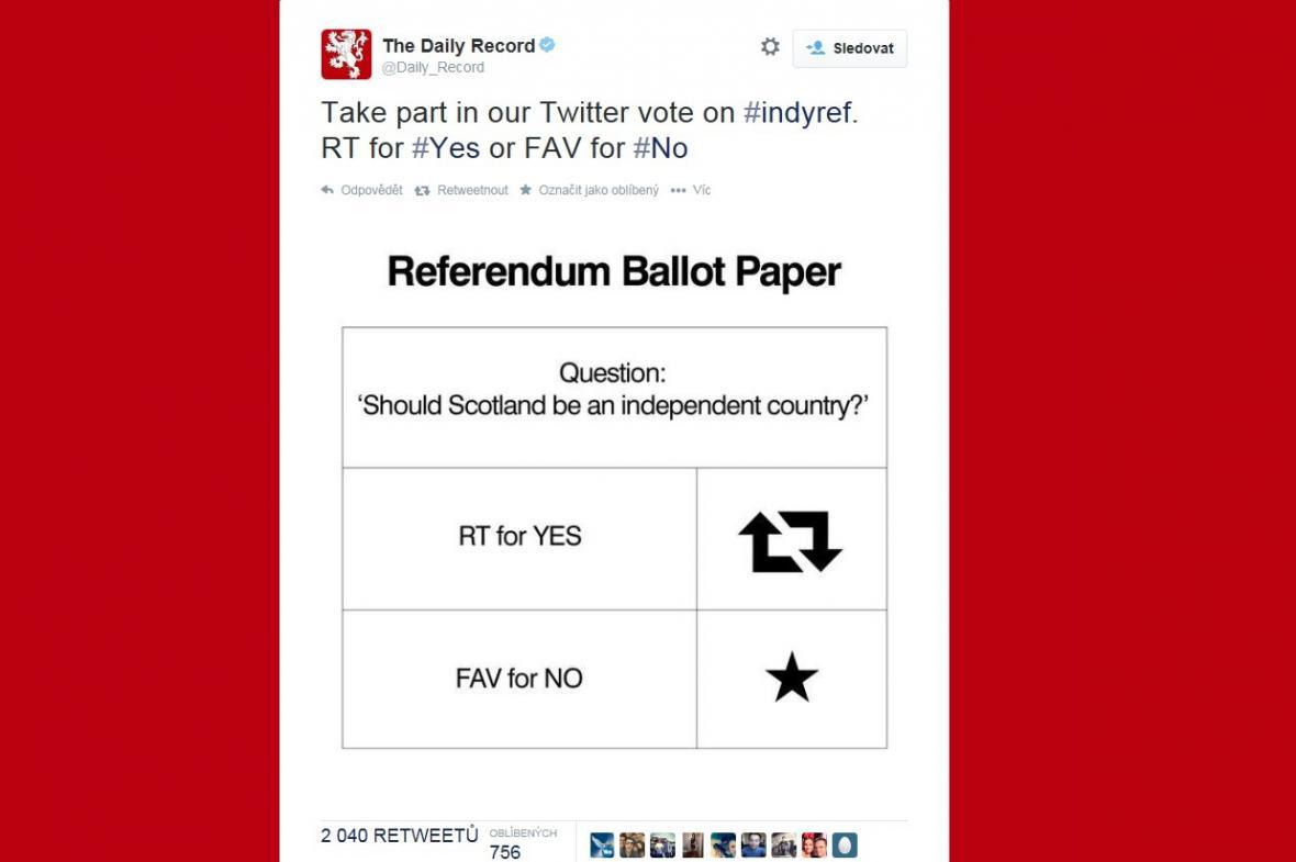 Referendum na webu Daily Record