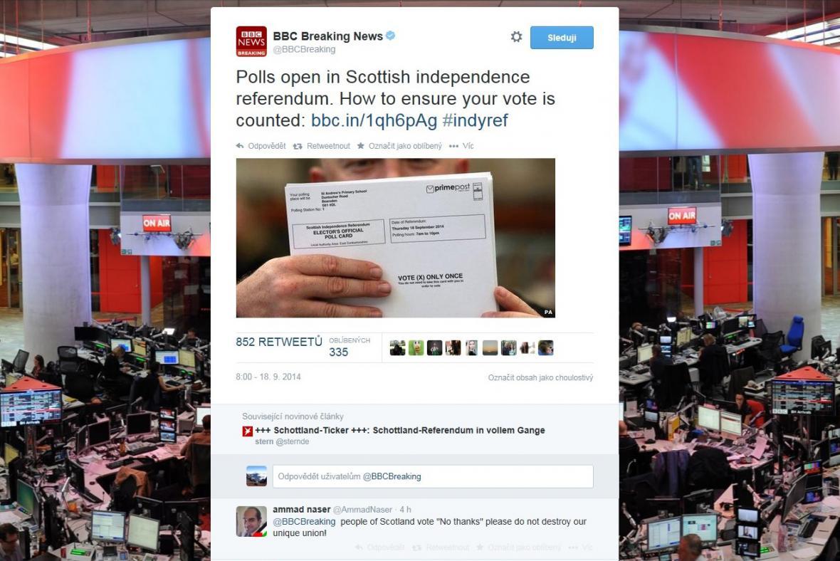 Referendum na webu BBC