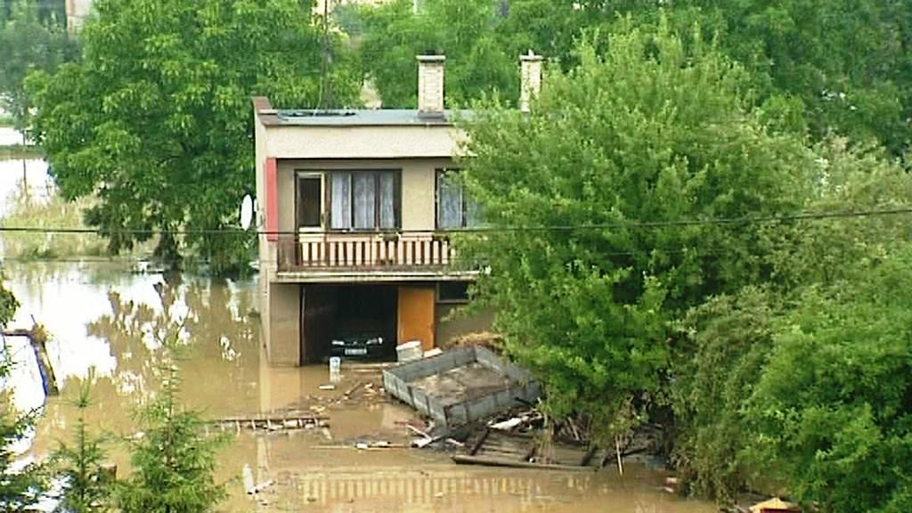 Záplavy v Jeseníku nad Odrou