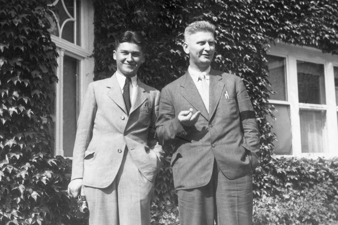 Tomáš Baťa se strýcem Janem Antonínem