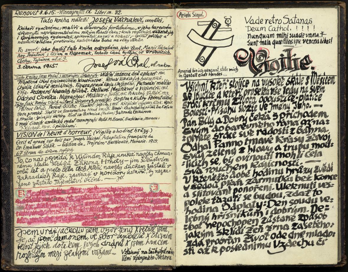 Kresebný zásah Josefa Váchala do knihy