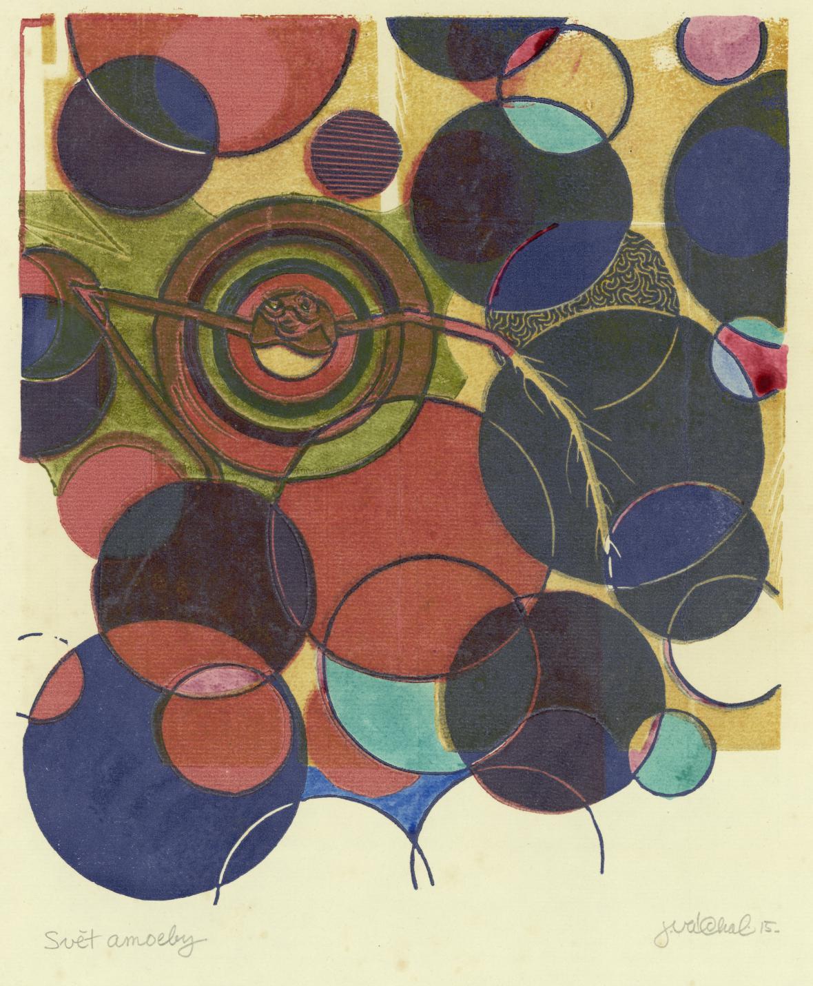 Josef Váchal / Svět amoeby, z cyklu meditace o životě (Svět jednotlivcův), 1915