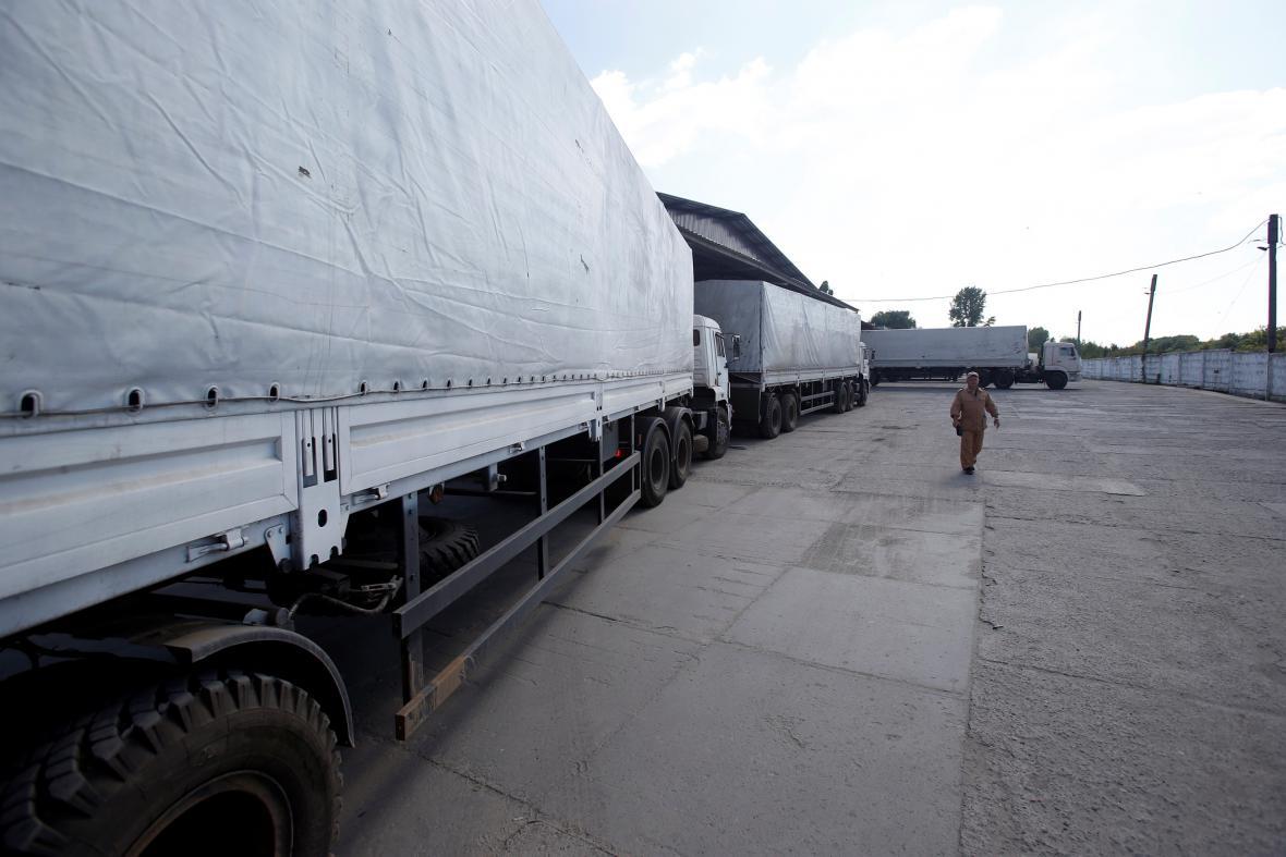 Druhý ruský konvoj dorazil do Luhansku