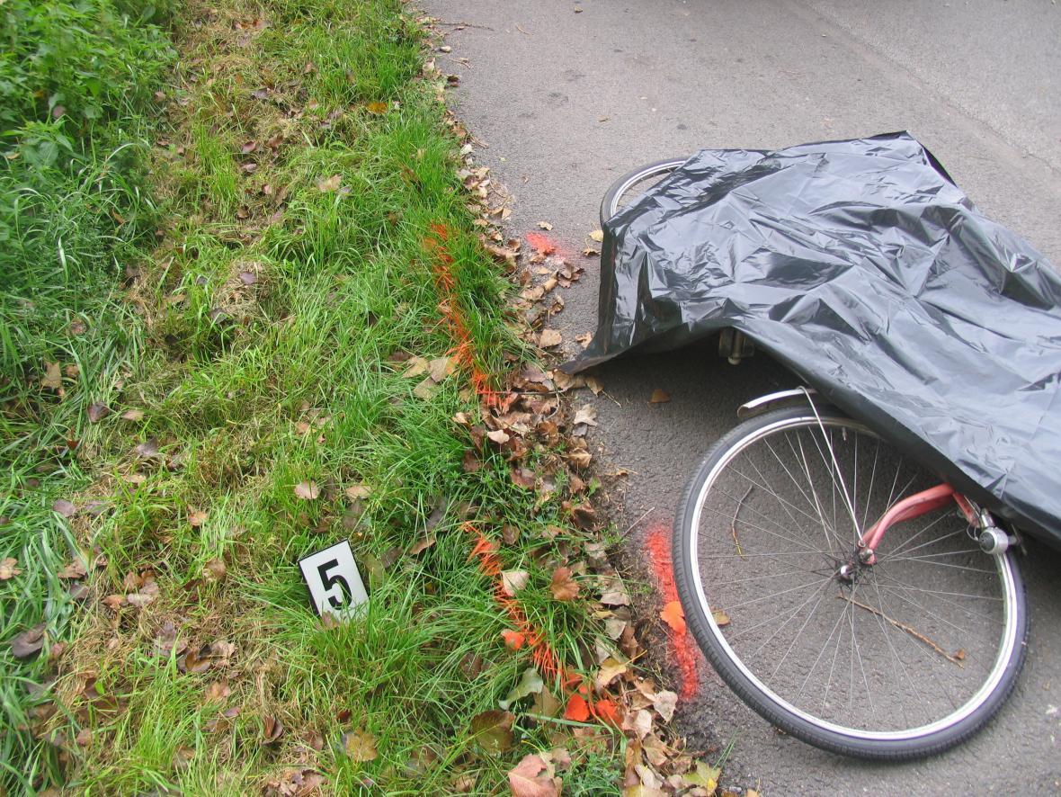 Místo nehody v Kosticích