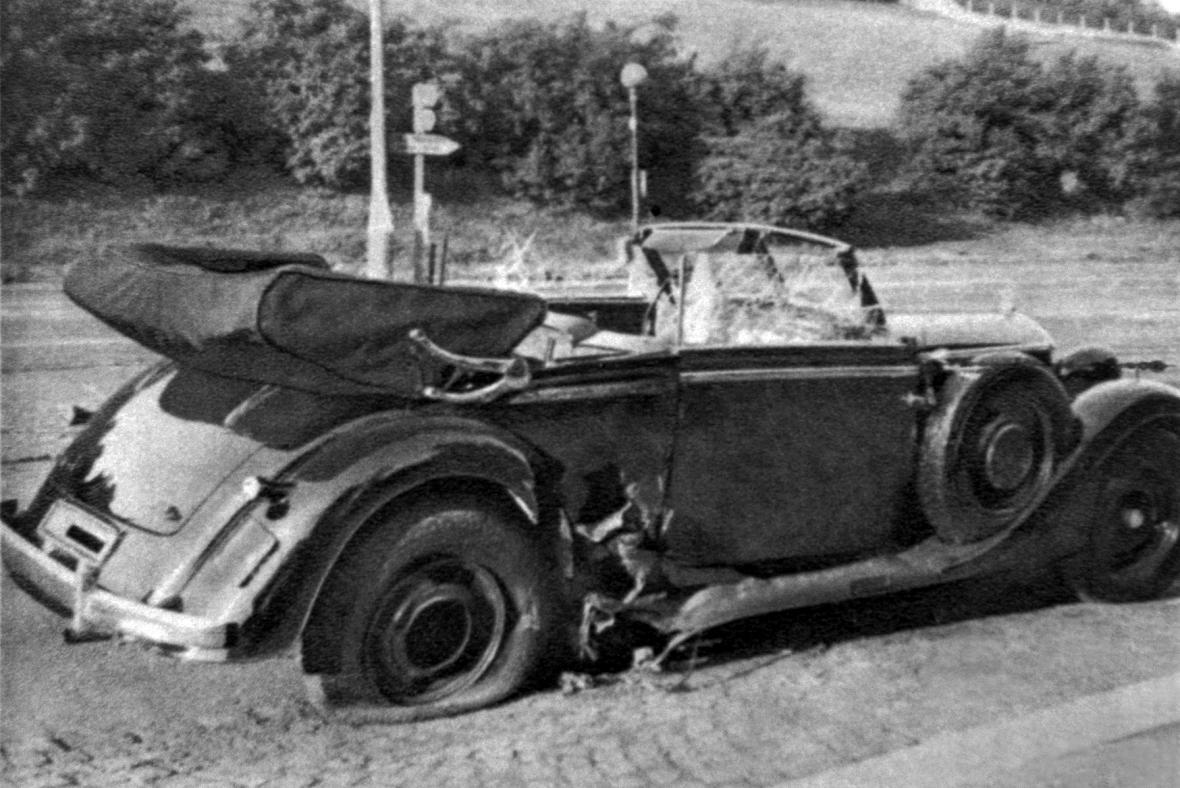 Heydrichovo auto po útoku