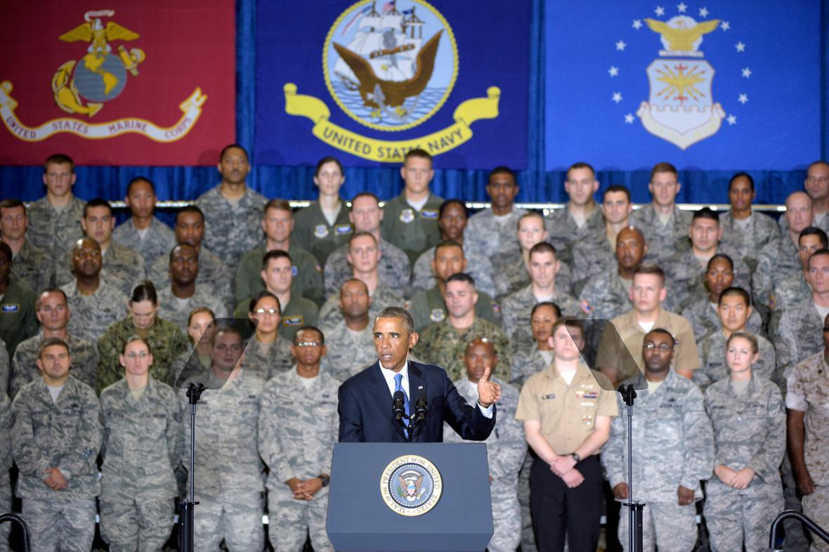 Obama promluvil k vojákům ve floridské Tampě