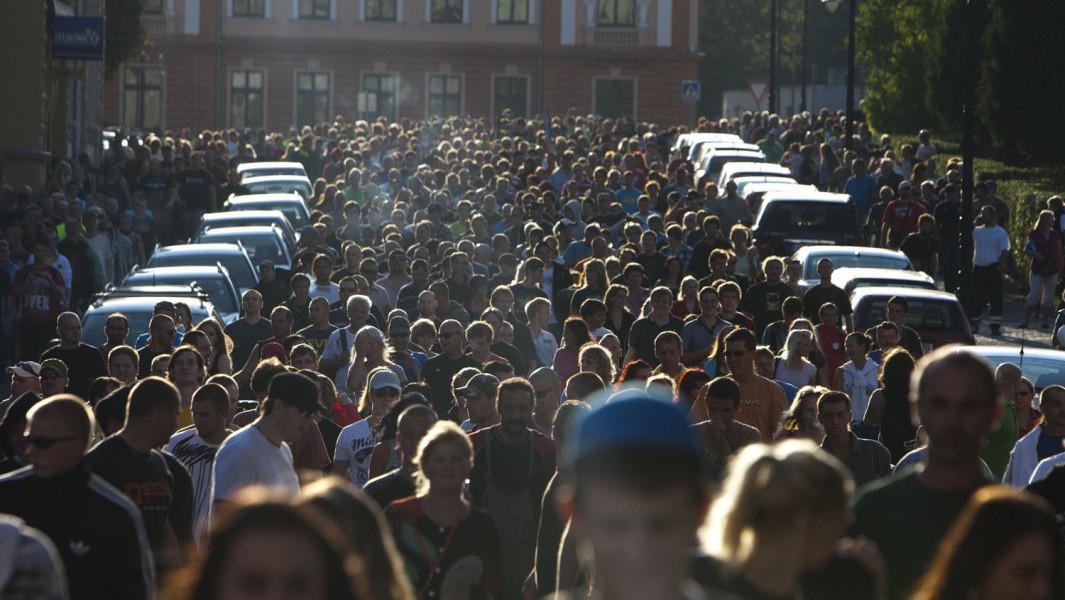 Demostrace ve Varnsdorfu v září 2011