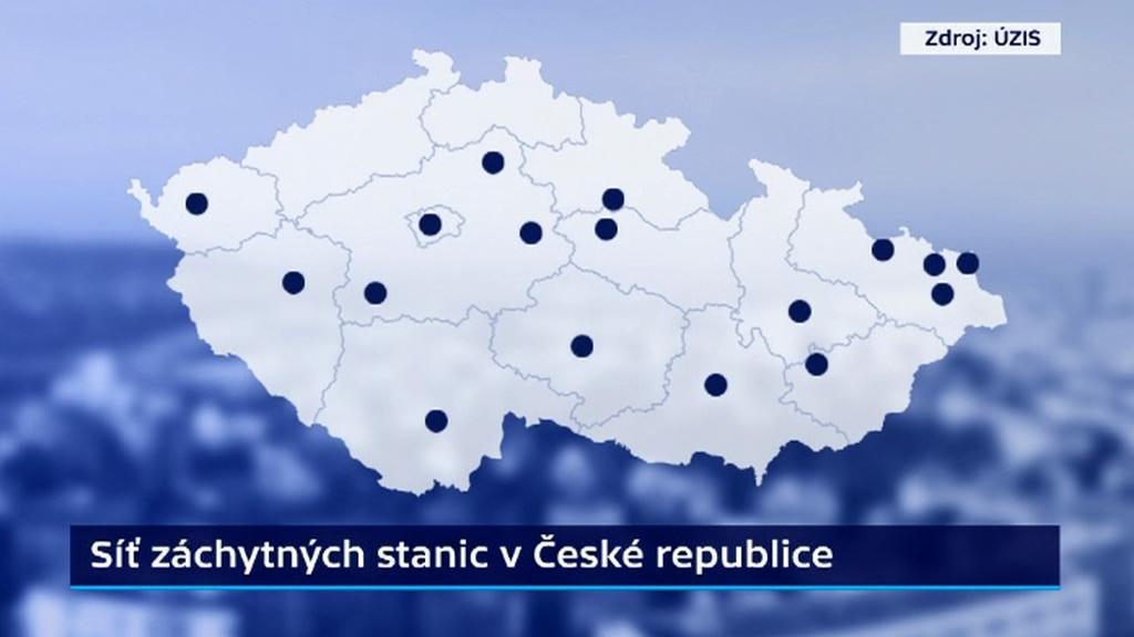 Záchytné stanice v Česku