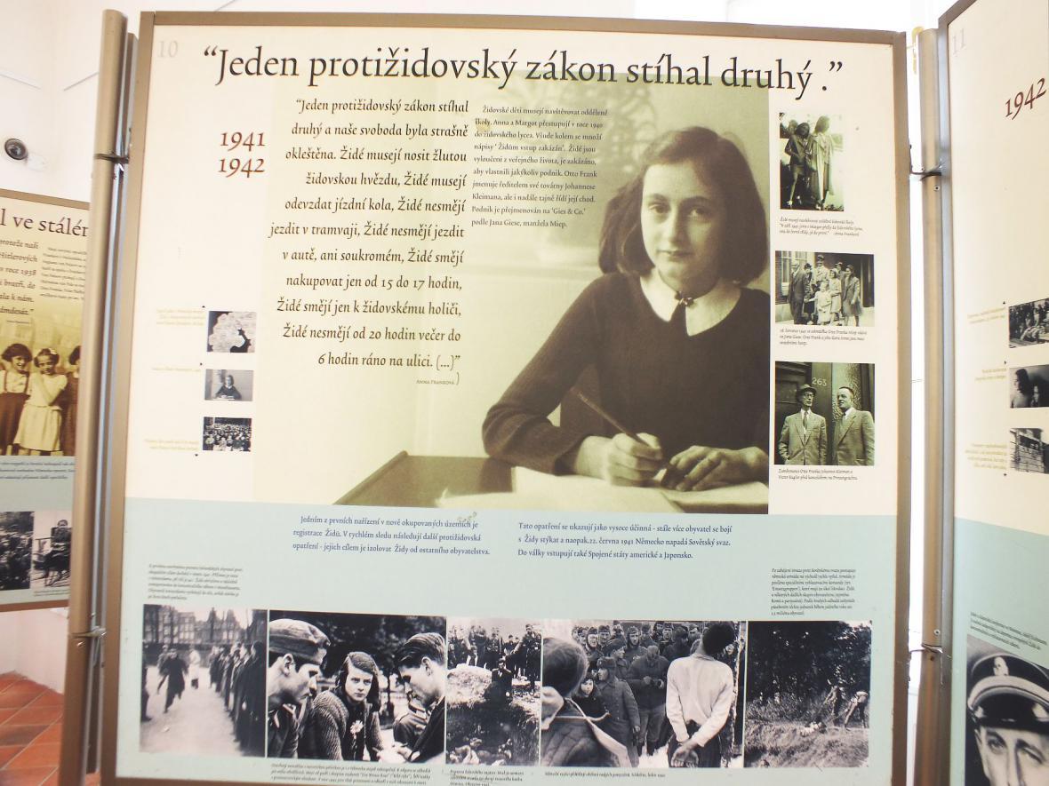 Výstava o Anně Frankové v Boskovicích