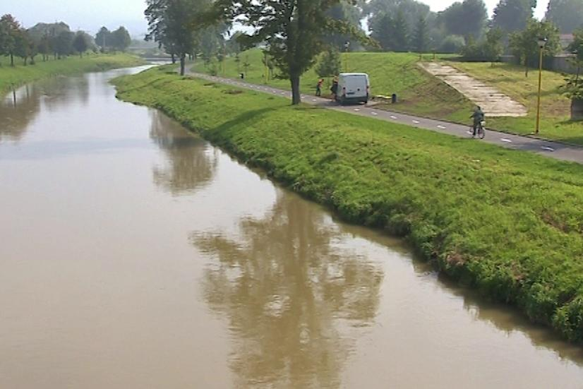 Trasa vede podél řeky Dřevnice