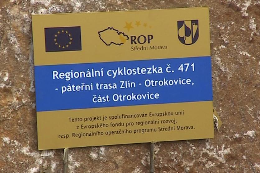 Na stavbu cyklostezky přispěla Evropská unie