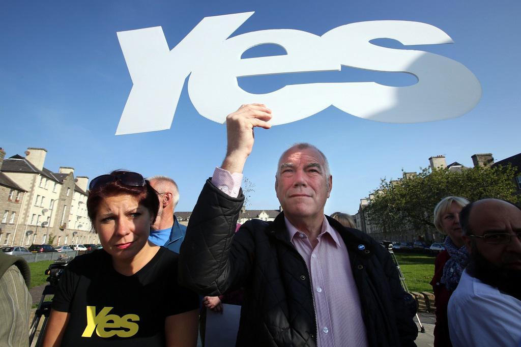 Příznivci skotské nezávislosti